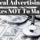 5 Advertising Mistakes NOT to make